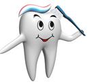 Zębuś ze szczoteczką tłumaczy co to jest impregnacja zębów