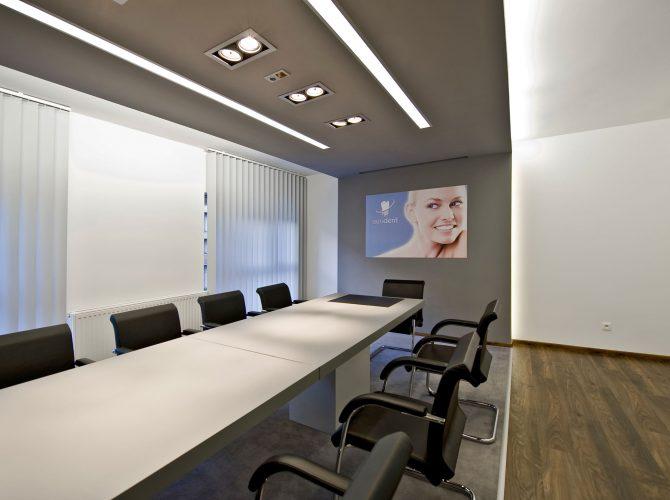 Sala konferencyjna przygotowana dla naszych stomatologów.